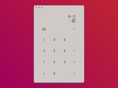 Text Only Flat Calculator #DailyUI #004 textonly flat calculator app concept dailyui004 004 dailyui