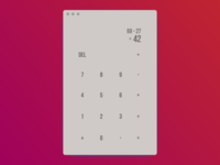Text Only Flat Calculator #DailyUI #004
