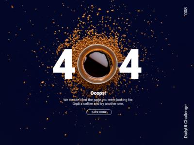 Strong Black 404 #DailyUI #008 008 error 404 404 ui dailyui