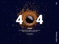 Strong Black 404 #DailyUI #008