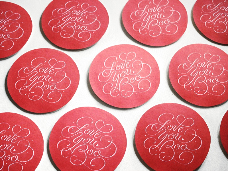 Made These For My Boos romance red valentine valentines day love heart couple card