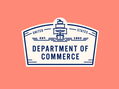 The Department of Commerce But Make It Move logo commerce state government boat ship gif seal badge design badge usa united states america