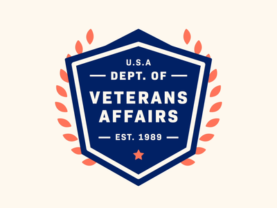 The Department of Vet Affairs But Make It Move department state logo government gif seal badge design badge veterans day veterans usa united states america