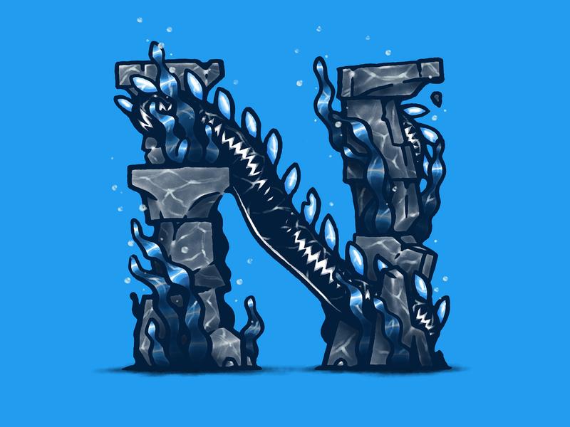 N character alphabet sea creature nessie loch ness loch ness monster type letter n letter n 36 days of type 07 36daysoftype07 36 days n 36daysn 36 days of type 2020 36daysoftype2020 36 days of type 36daysoftype