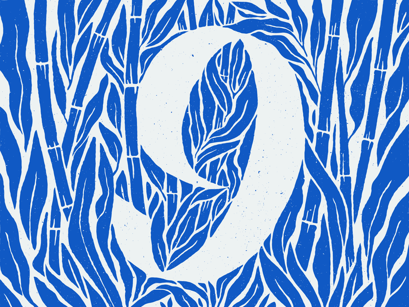 9 plants garden blue numbers bamboo type number 9 9 number nine nine 36 days nine 36daysnine 36 days 9 36days9 36 days of type 2020 36daysoftype2020 36 days of type 07 36daysoftype07 36 days of type 36daysoftype