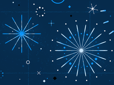 Pow Pow lights explosion happy new year new years eve new year nji media evening night illustration glitter space stars sparkle firecracker party celebrate celebratioin fireworks firework blue