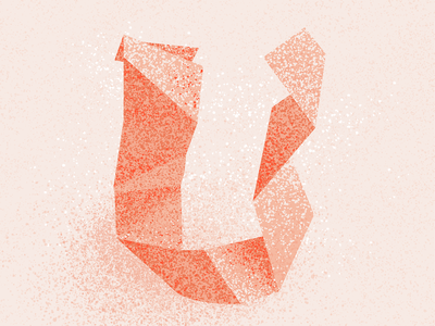 U texture origami letter u u 36 days u 36 days of type 2021 36 days of type 08 36daysoftype typography alphabet 36 days of type lettering type