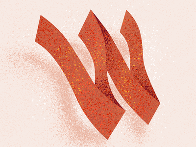 W letter w w 36 days w texture lettering 36 days of type 2021 36 days of type 08 36daysoftype typography alphabet 36 days of type type