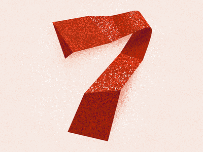 7 number 7 number seven seven 36 days 7 7 texture 36 days of type 2021 36 days of type 08 36daysoftype typography alphabet 36 days of type type lettering illustration