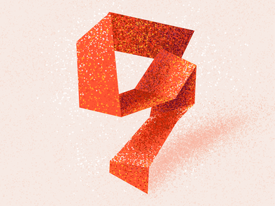 9 nine number nine 36 days 9 number 9 9 texture 36 days of type 2021 36 days of type 08 36daysoftype typography alphabet 36 days of type lettering illustration type