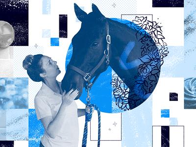 Blue Beauty employee spotlight barn horse blue photo collage nji media njimedia nji collage equestrian