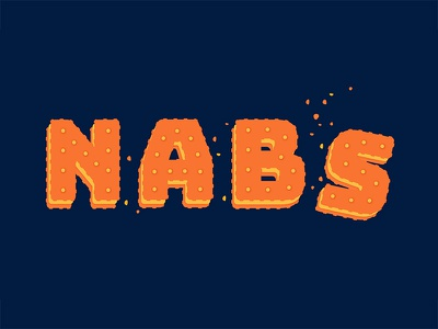 Nabs peanut butter snack typography type