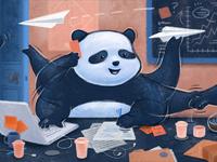 Busy panda dribbble