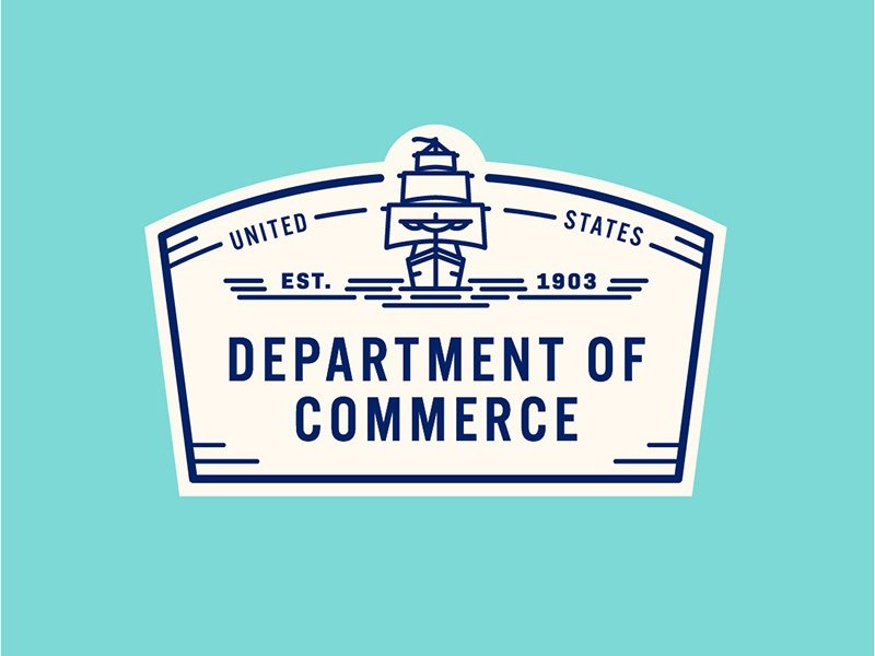 Department of Commerce ship commerce america usa state logo government united states seal badge design badge