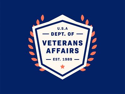 Department of Veterans Affairs veterans usa united states seal badge design badge logo