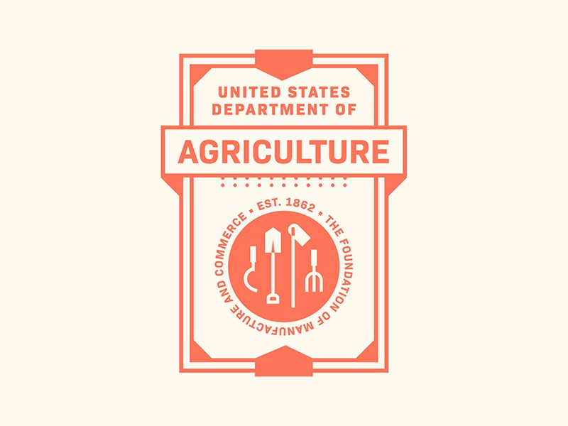 Department of Agriculture government state badge desgin badge seals united states usa food farming agriculture