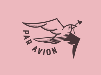 Sending Love Dove airmail peace love dove animal vector illustration
