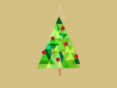 O Christmas Tree prism modern christmas holiday digital vector illustration