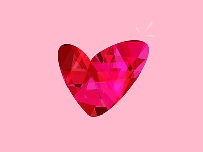 My Heart heart valentine modern prism digital vector illustration