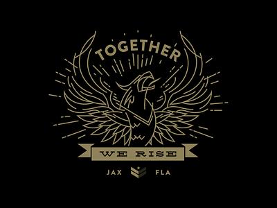 Together Phoenix covid-19 coronavirus covid phoenix line art animal digital vector illustration