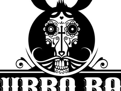 Burro Bar Logo logo burro donkey bar muerte skull mexican bandito