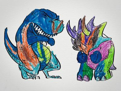 Boxing Dinos