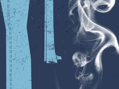 Whistling Smoke illustration gun smoke aiga jacksonville blue always summer texture