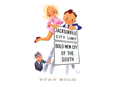 Stay Bold bold duval mayor character design history jacksonville digital cartoon illustration