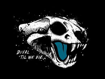 Distrezzled Jag Skull splatter ink paint jacksonville football animal jaguar skull illustration