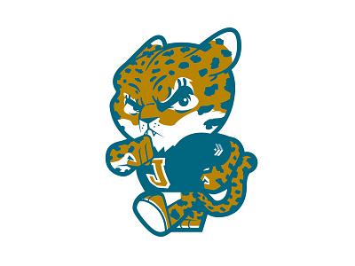 Prowlin' Jag Cub cute jaguar animal mascot collegiate college comic cartoon design character illustration