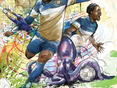 Jacksonville Armada Cultural Arts Gameday Poster collage poster football soccer watercolor sketch digital drawing illustration