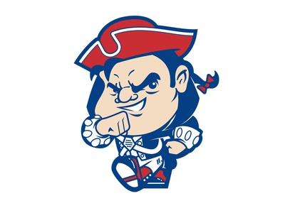 Swagga' Pat mascot football new england patriot character design illustration design comic collegiate college character cartoon