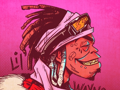 Uproar rap music gorillaz gig poster poster illustration drawing lil wayne character design character