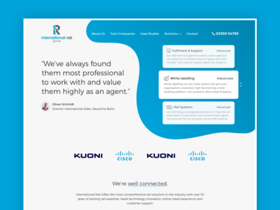 International Rail - Website Concept