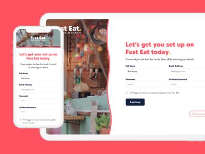 Fest Eat - Sign Up