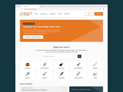 CAT-UXO Website Design