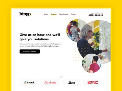 Hinge Website - Lightning Decision Jams