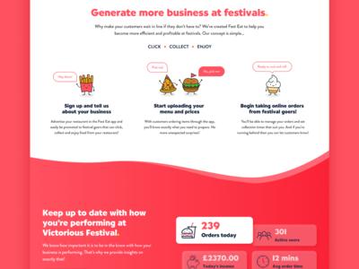 Fest Eat - Landing Page