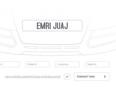 Car Plate Order car plate order form vector clean