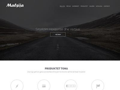 Malsija Company malsija company theme website template design branding
