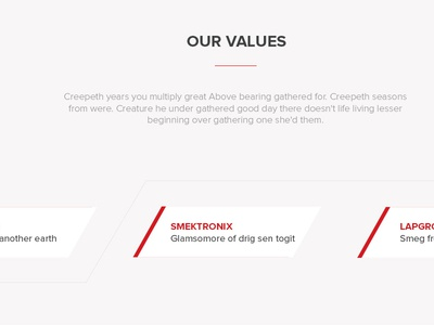 Corporation  Values values steps clean white red