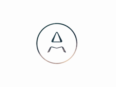 AM m a logo negative space am