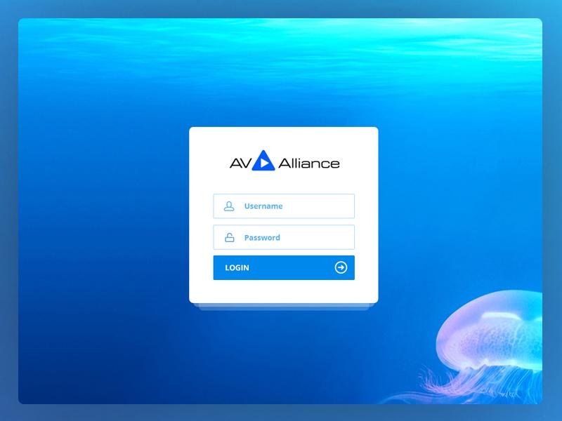 Av Alliance - Login Page blue login