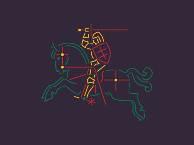 Happy independance anniversary, Lithuania! horseman coat of arms independence day lithuania logo design illustration