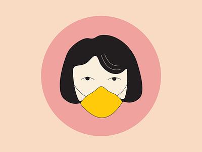 Wear mask design illustration covid-19 mask