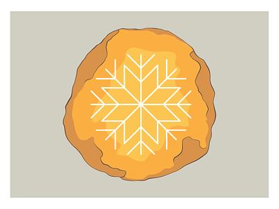 Cosy holidays postcard snowflake amber postcard card holidays cosy