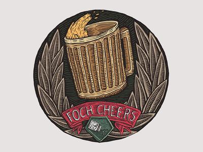 Cheers artwok t-shirt illustration fochcheers foch sir foch twitch emote beer cheers
