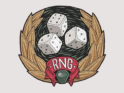 RNG artwork dice icon twitch sir foch fochrng foch emote rng