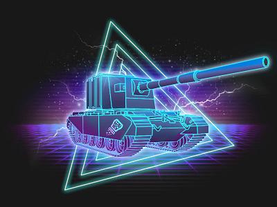 Retrowave Fv4005 tank t-shirt tank fv4005 retrowave