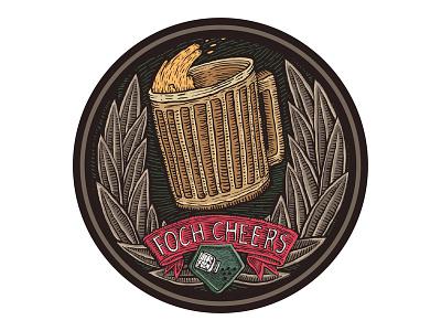Foch cheers coaster mug beer badge wot coaster foch cheers